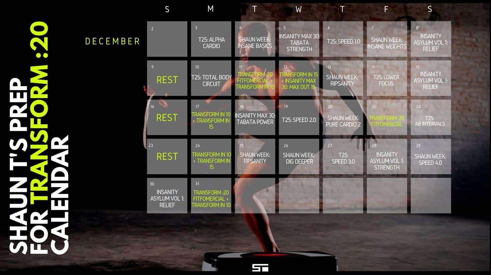 Jennifer Wood Fitness : Shaun T's Hybrid Calendar Schedule within 21 Day Fix Hybrid Calendar
