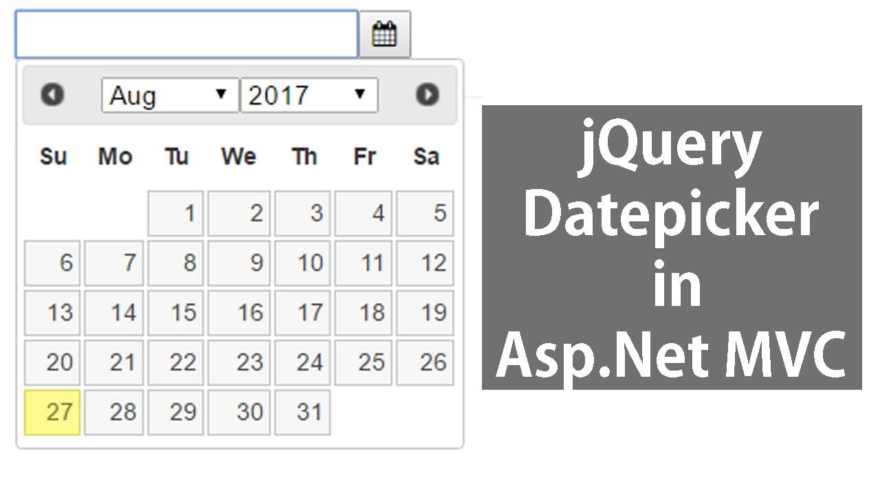 Jquery Datepicker In Asp Mvc inside Mvc Calendar Control
