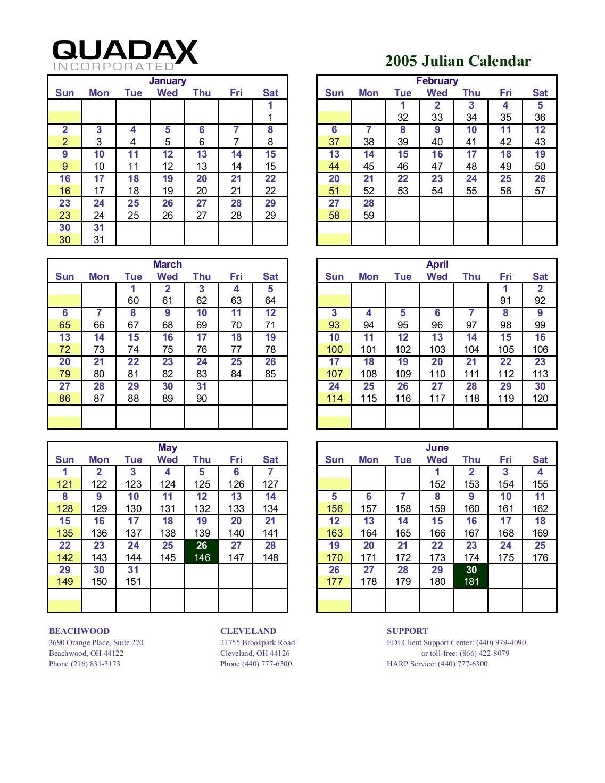 Julian Calendar 2019 Quadax 2019 Julian Date Calendar for Calendario Juliano 2020 Quadax