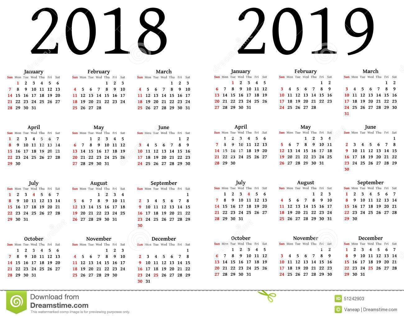 Julian Calendar – Printable Year Calendar in 2018 Julian Calendar