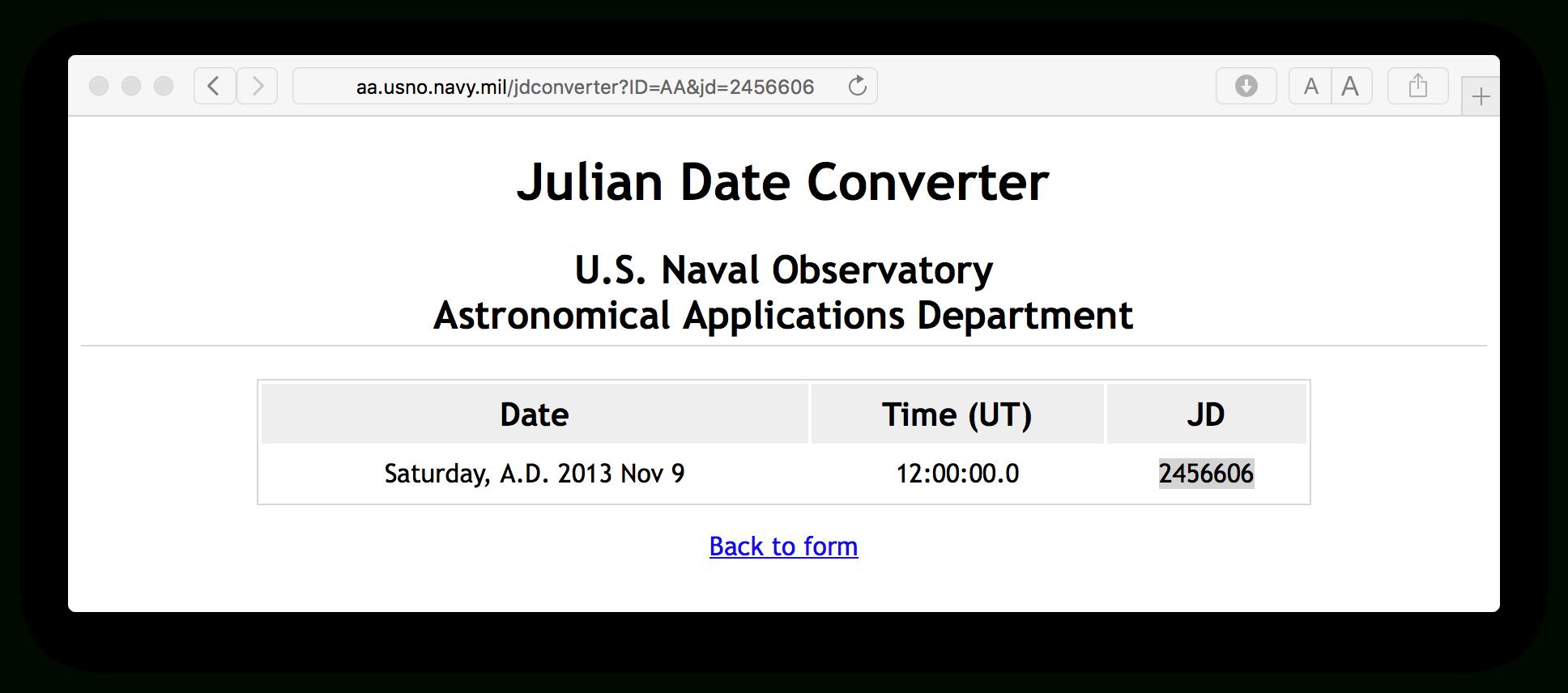 Julian Date To Regular Date Conversion  Stack Overflow pertaining to Convert Julian Date To Regular Date