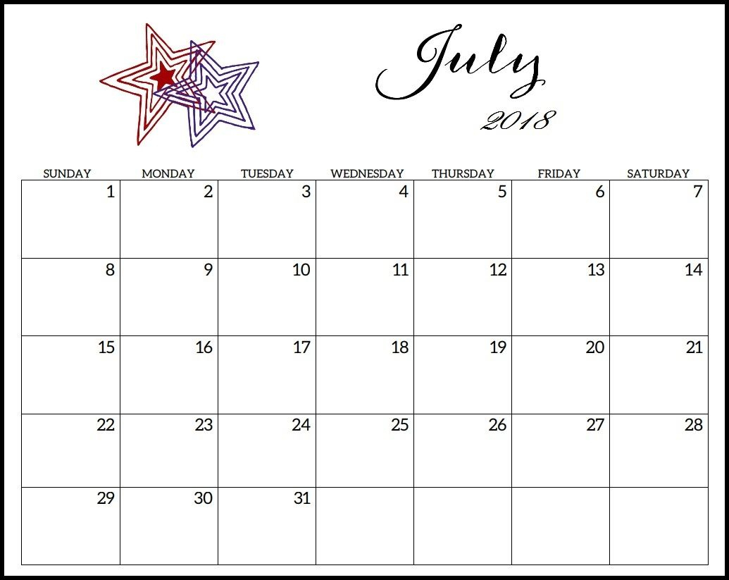 July 2018 Waterproof Pdf Calendar | 2018 Printable Calendar within January 2020 Waterproof Calendar