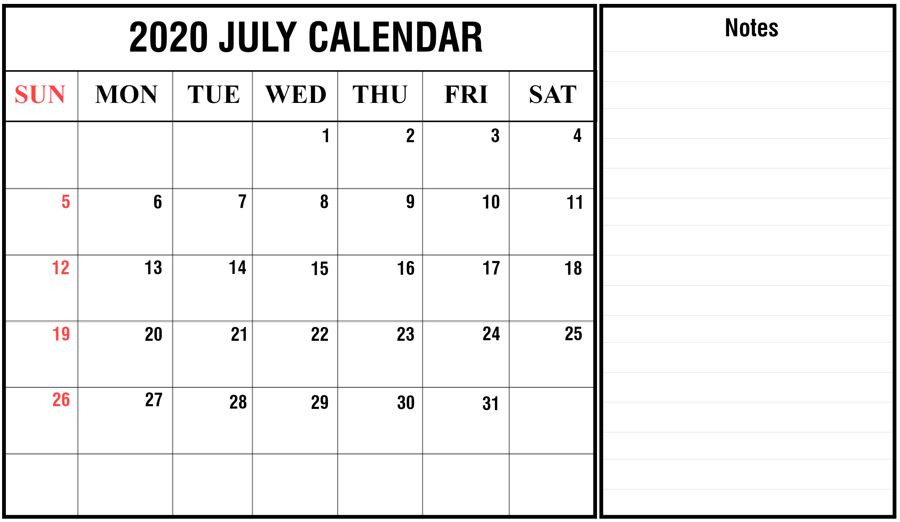 July 2020 Calendar Excel | Printable December Calendar Template pertaining to Calendar Excel Template 2020