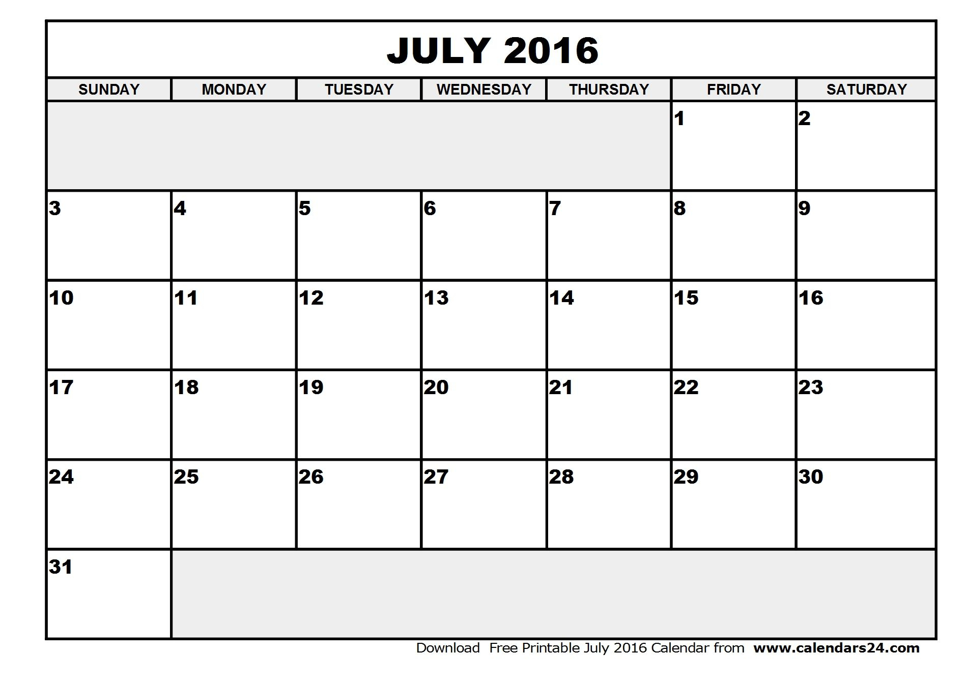 July August 2016 Calendar | July Calendar, Free Printable pertaining to July August 2016 Calendar