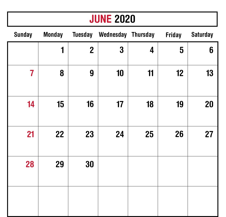 June 2020 Calendar With Holidays  Topa.mastersathletics.co for Parent24 School Calendar 2020