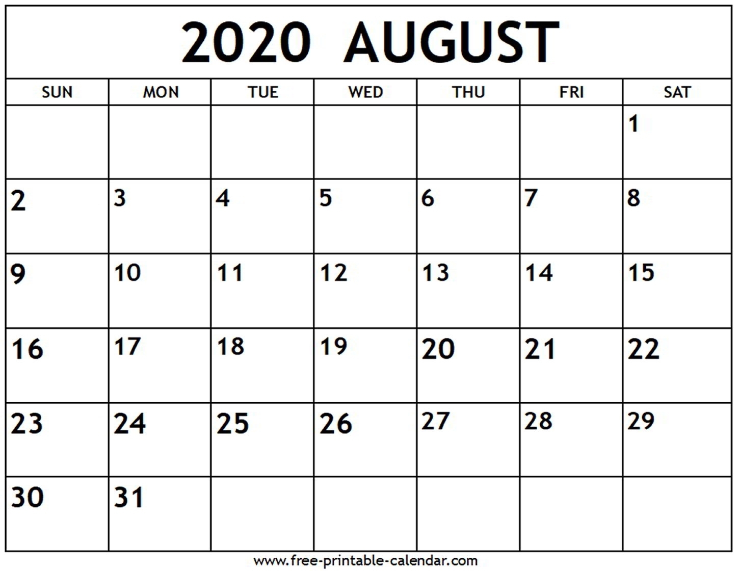 June July August 2020 Printable Calendar | Monthly Printable intended for May June July August 2020 Calendar