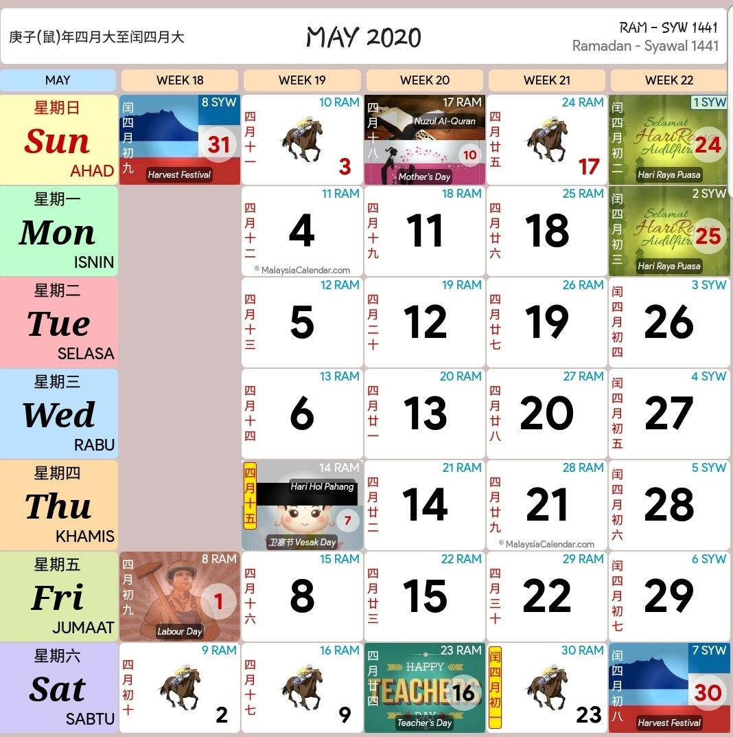 Kalendar Kuda April 2020 | Calendar Template Information intended for Calender Kuda 2020