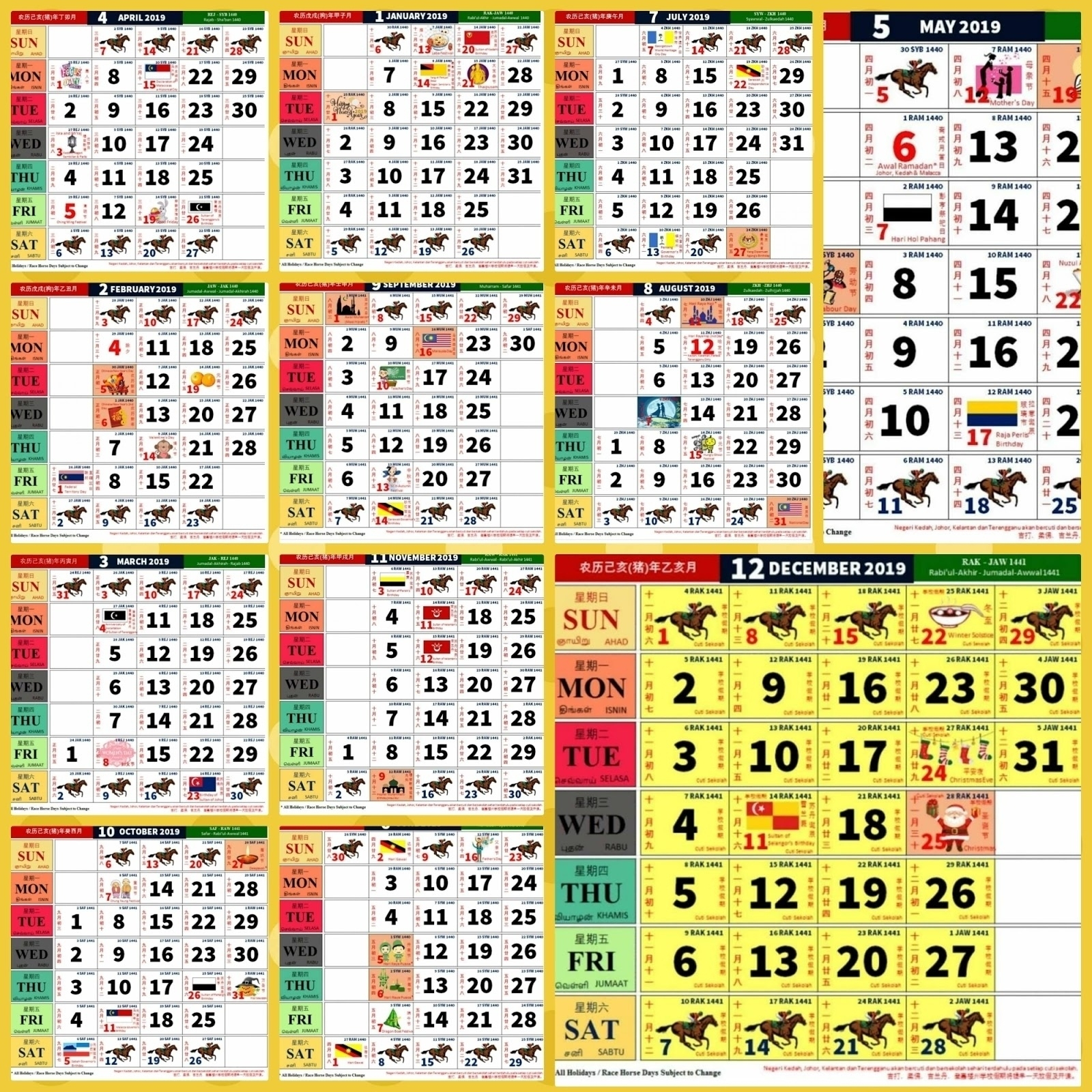 Kalendar Kuda April 2020 | Calendar Template Information within Calender Kuda 2020