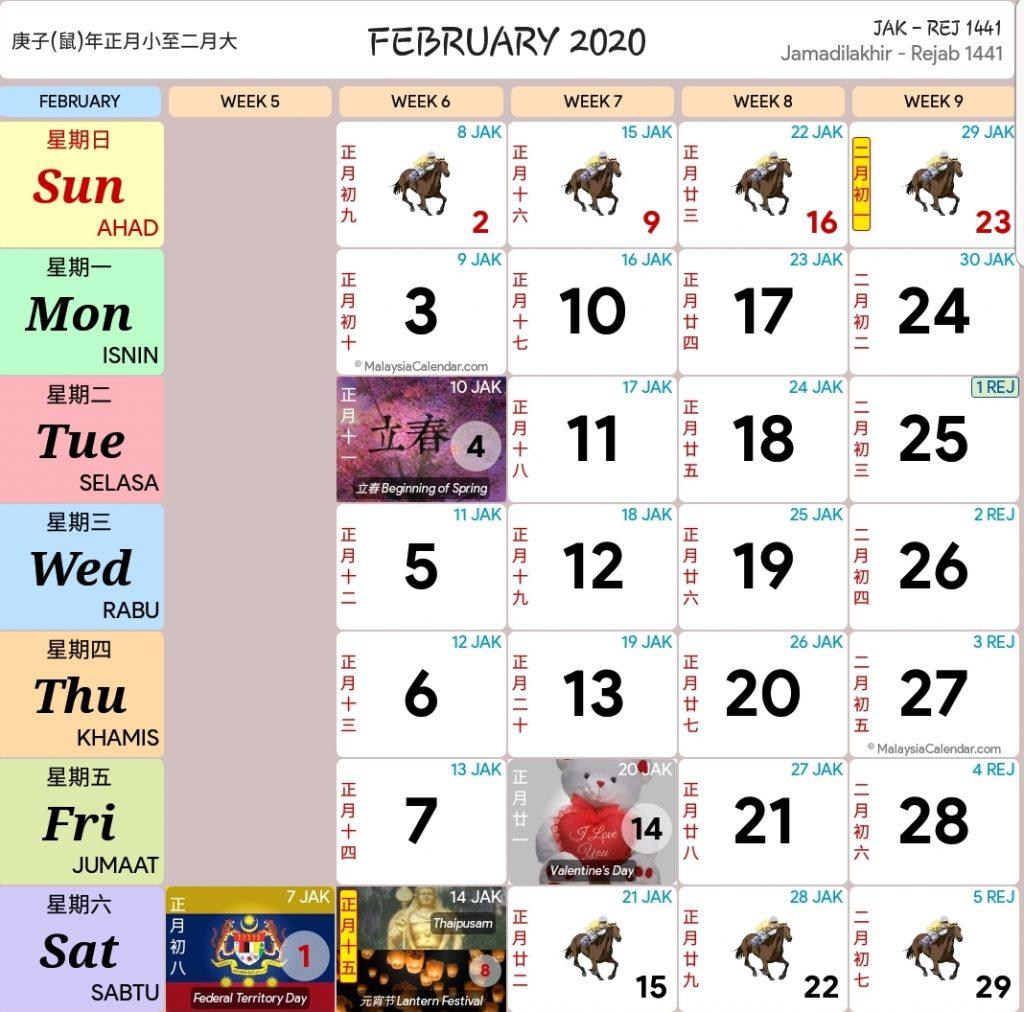 Kalendar Kuda Tahun 2020 Versi Pdf Dan Jpeg regarding Calendar Kuda January 2020