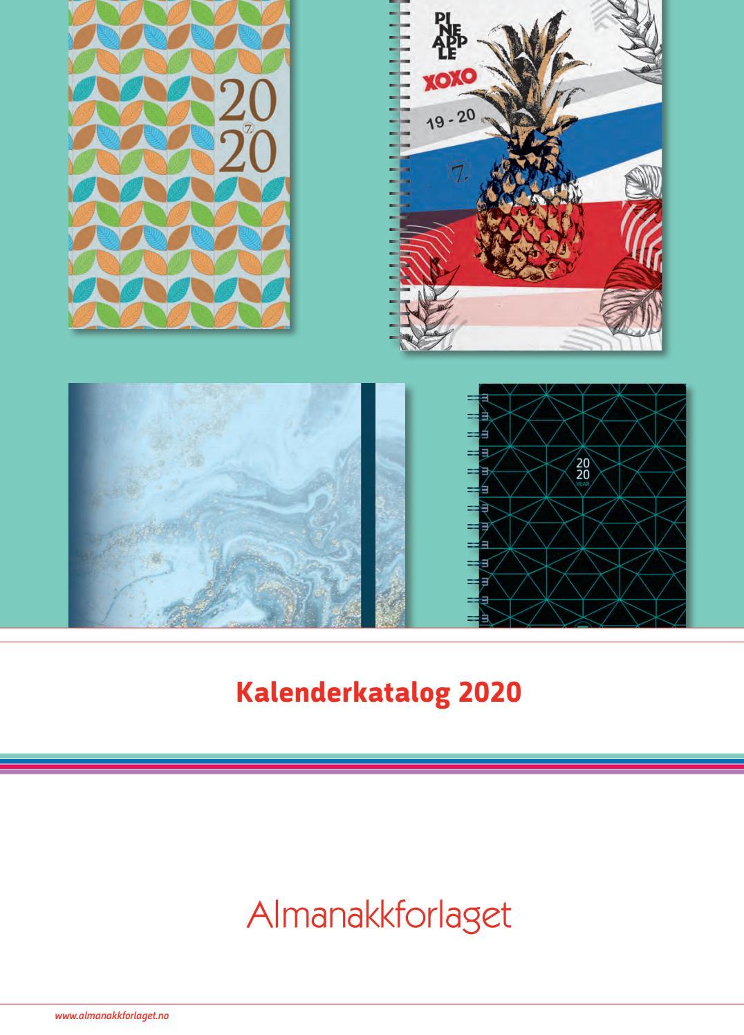 Kalenderkatalog 2020 By Almanakkforlaget  Issuu in Norsk Ukekalender 2020