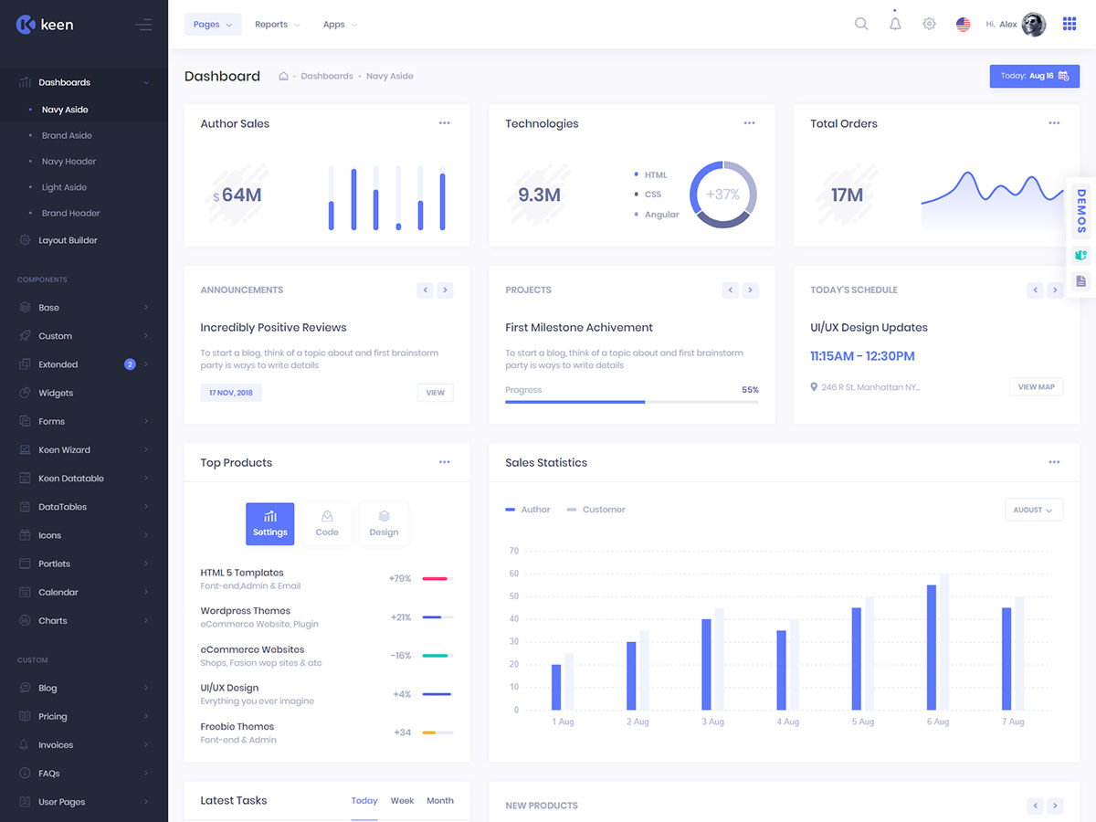 Keen – The Ultimate Bootstrap Admin Theme  Bootstrap Themes pertaining to Bootstrap 4 Calendar Icon