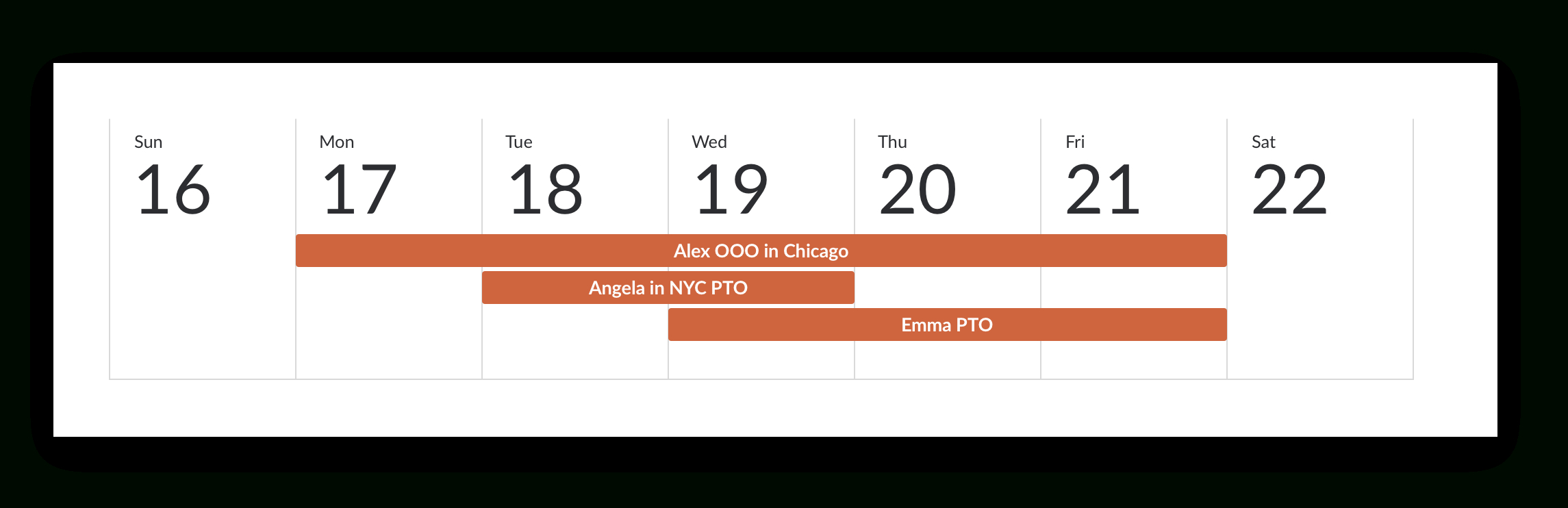 Keep Track Of Vacation Schedules With Calendar Sharing in Pto Tracking Calendar