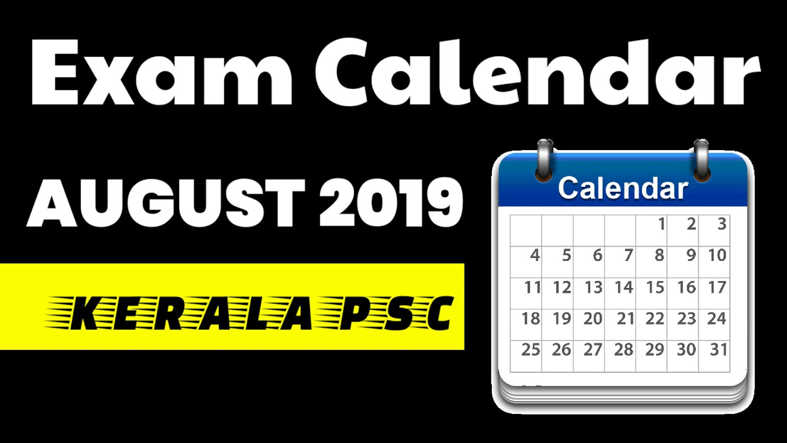 Kerala Psc Exam Calendar 2019  Psc Library intended for Kerala High Court Calendar