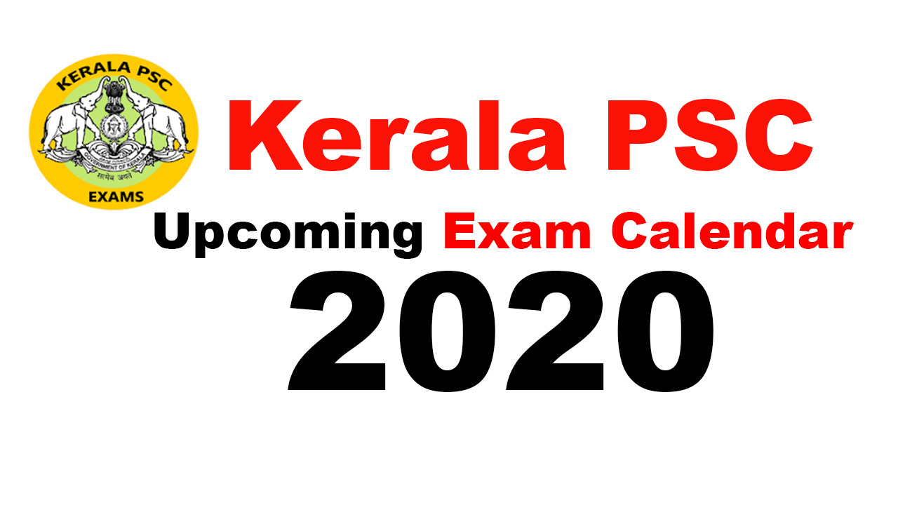 Kerala Psc Exam Calendar 2020  Upcoming Kpsc Exam 2020 throughout Kerala Government Calendar 2020