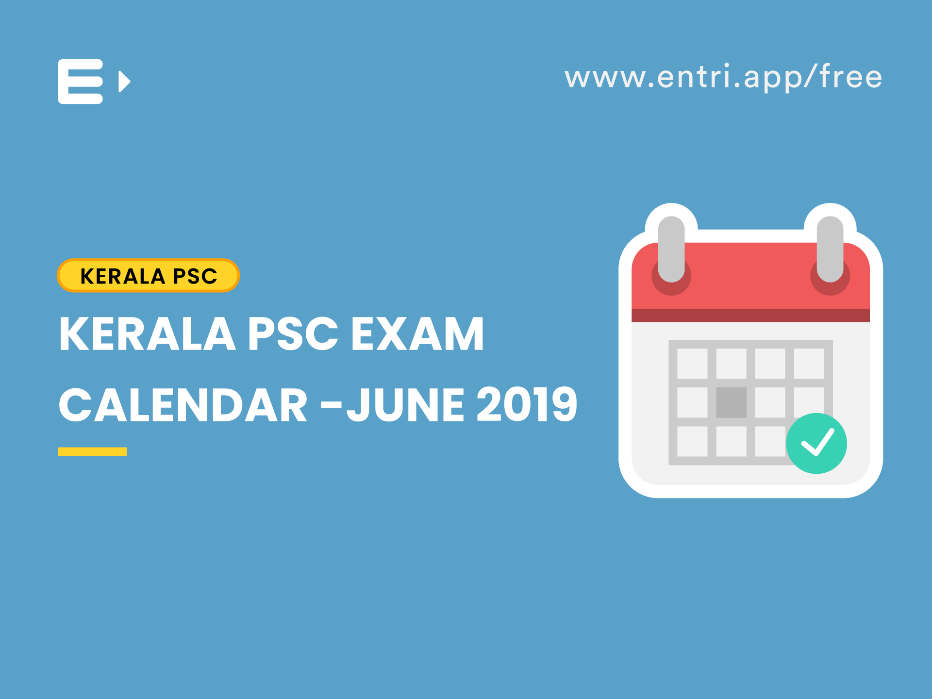 Kerala Psc Exam Calendar June 2019  Entri Blog regarding Kerala Govt Calendar