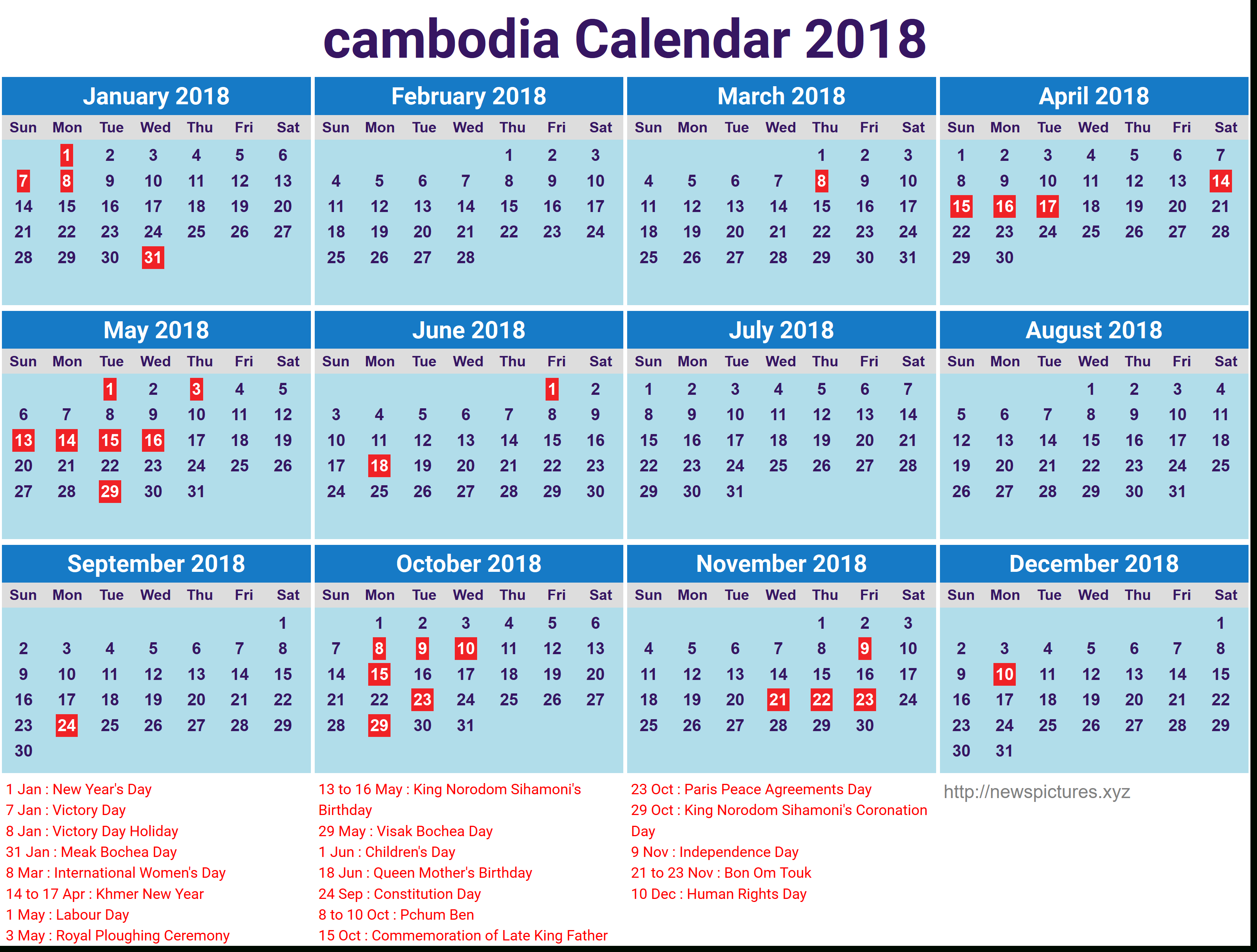 Khmer Calendar 2017 Yearly intended for Khmer Lunar Calendar 2018