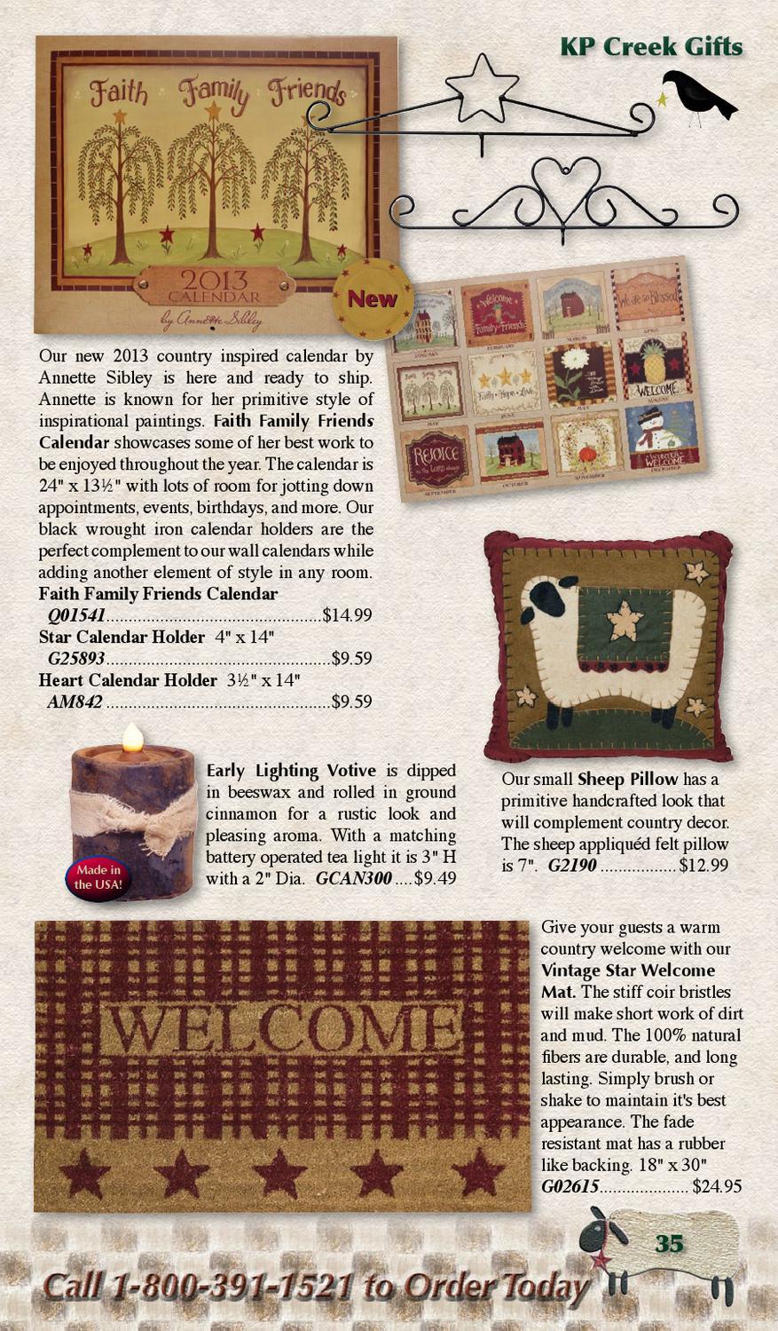 Kruenpeeper Creek Gifts Volume 6 2012 By Forum throughout Wrought Iron Calendar Holder