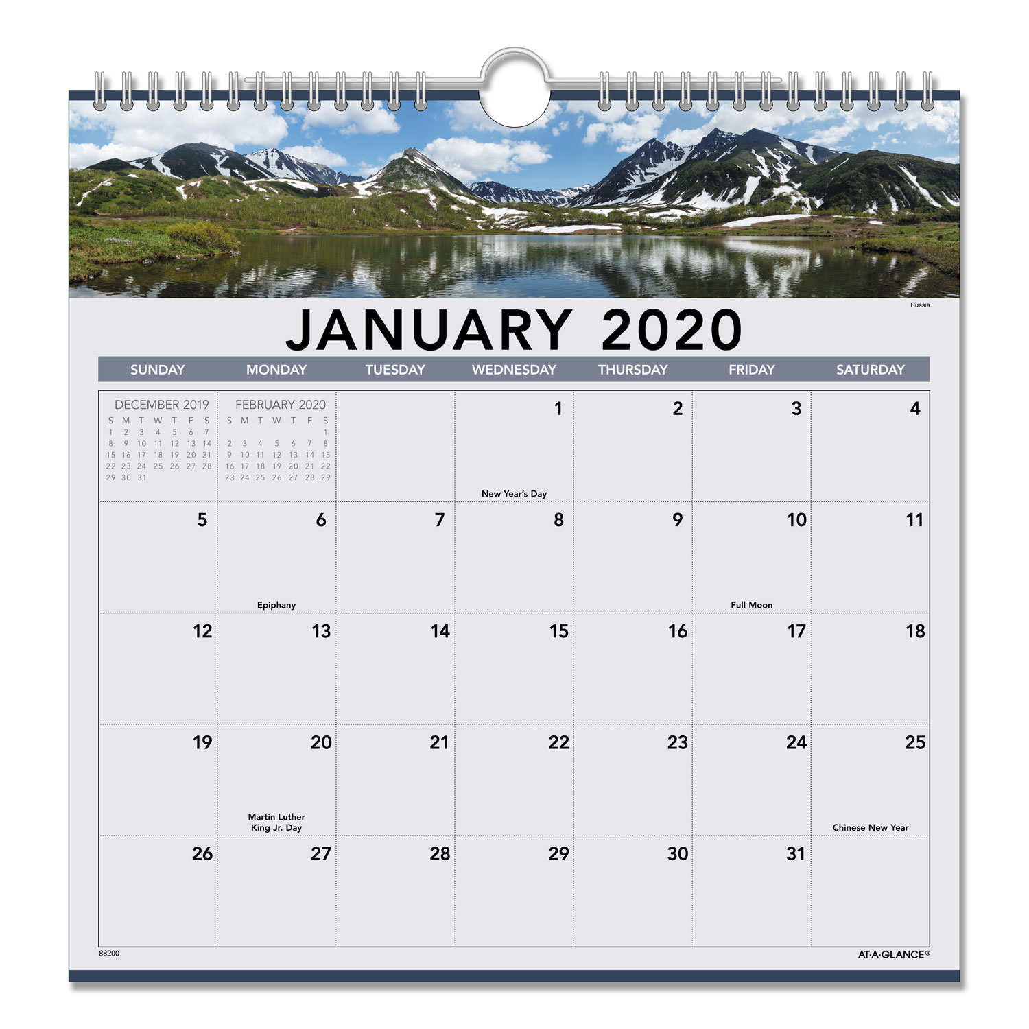 Landscape Monthly Wall Calendar, 12 X 12, 2020  Roby Supply throughout 12X12 Calendar Holder