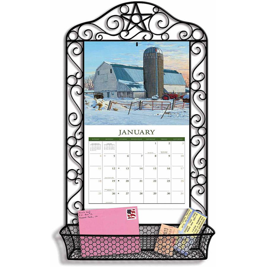 Lang Wrought Iron Calendar Frame Calendar Frame, Wrought Iron  Walmart throughout Wrought Iron Calendar Holder