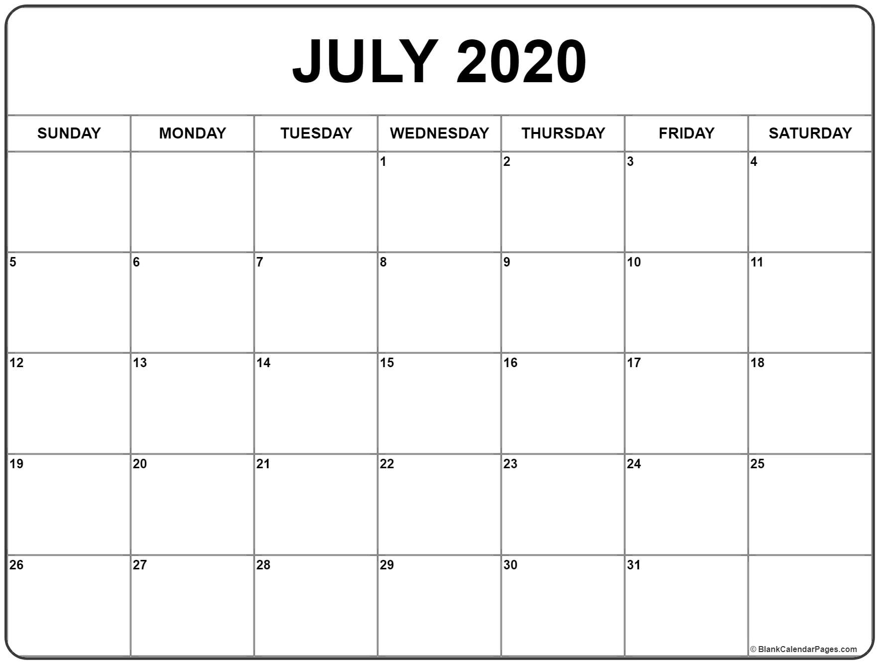 Large Box Printable Calendar 2020 Google  Calendar within Google Calendar Template 2020