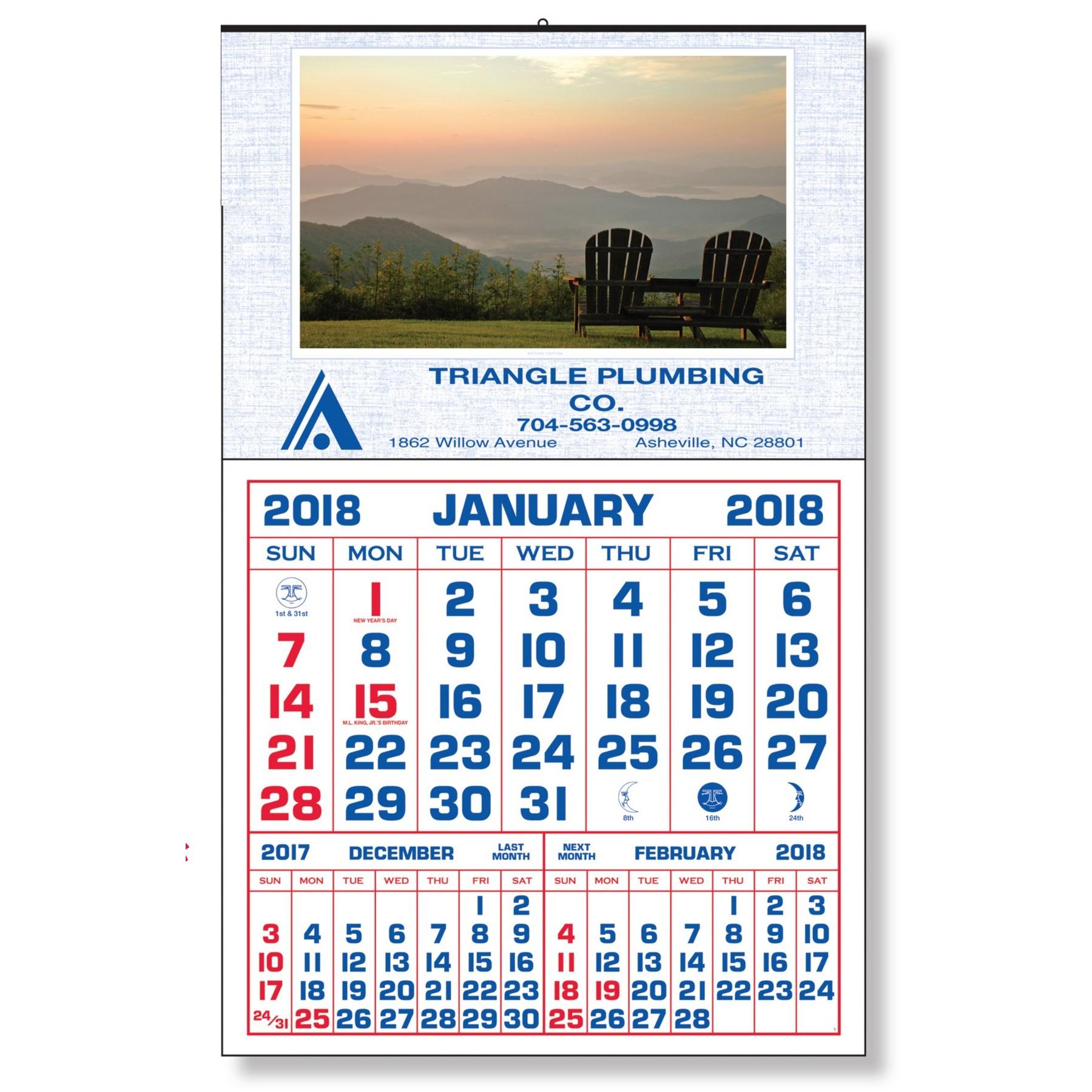 Large Utility Calendar pertaining to Extra Large Photo Calendar
