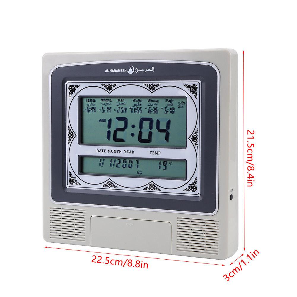 Lcd Automatic Islamic Muslim Prayer Azan Athan Alarm Wall Table Clock Qibla  Gift intended for Lunar Calendar Isha