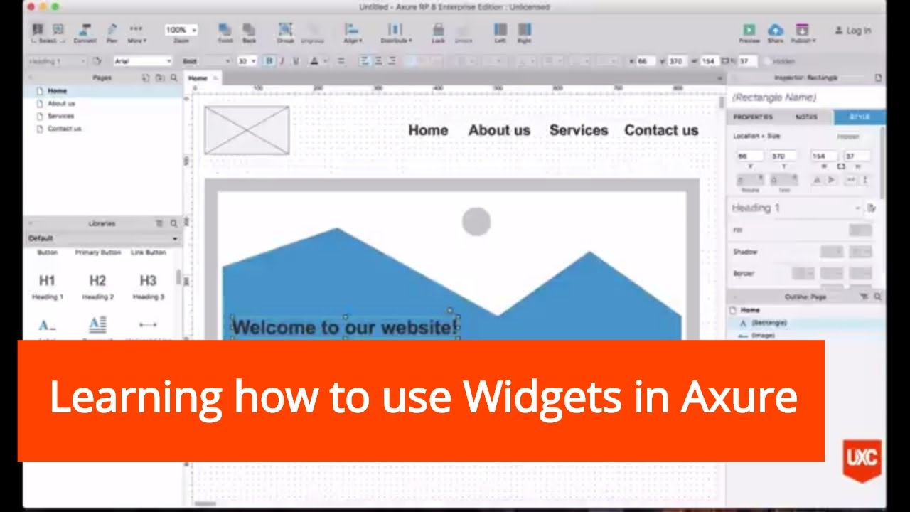 Learning How To Use Widgets In Axure with Axure Calendar Widget