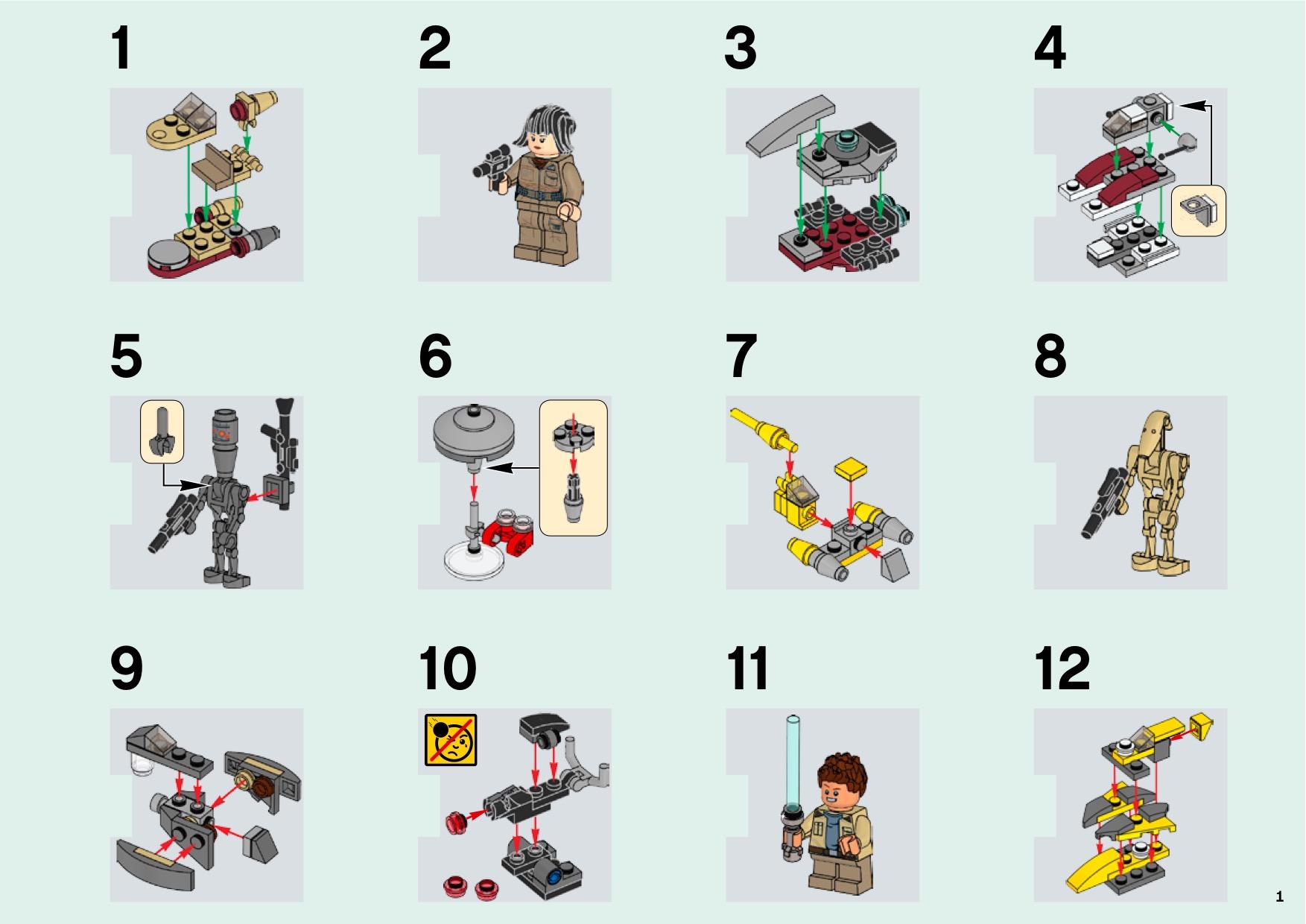 Lego 75213 Star Wars Advent Calendar Instructions, Star Wars for Lego 75213 Instructions
