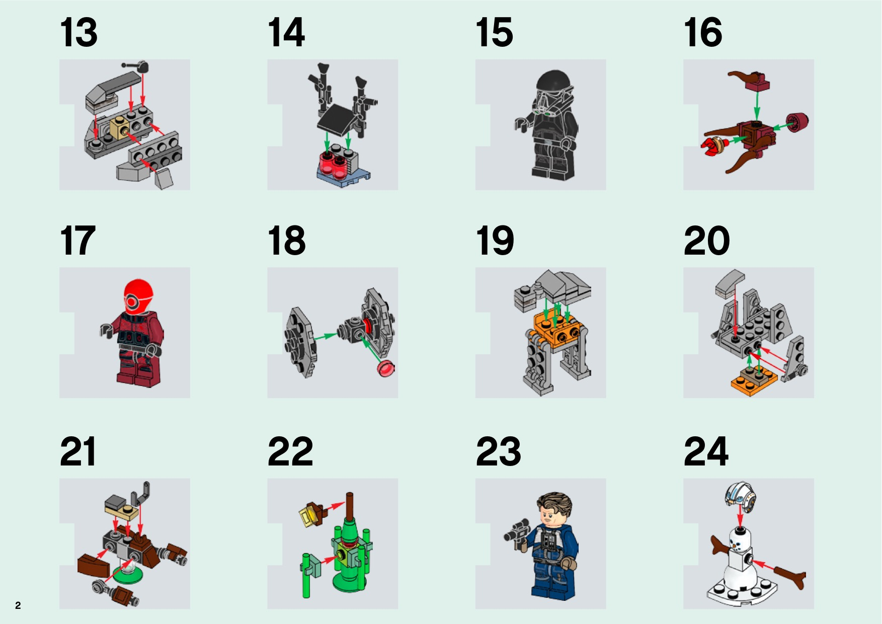 Lego 75213 Star Wars Advent Calendar Instructions, Star Wars within Lego 75213 Instructions