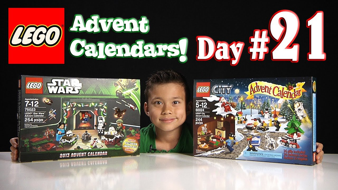 Lego City Advent Calendar & Lego Star Wars Advent Calendar Day 21  2013  Set 60024 & 75023 with Star Wars Advent Calendar 2013