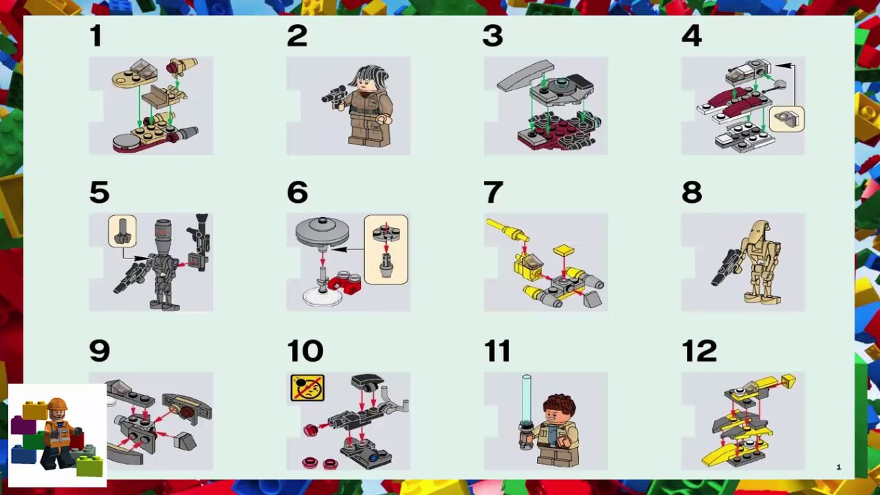 Lego Instructions  Seasonal  75213  Star Wars Advent Calendar with regard to Lego 75213 Instructions