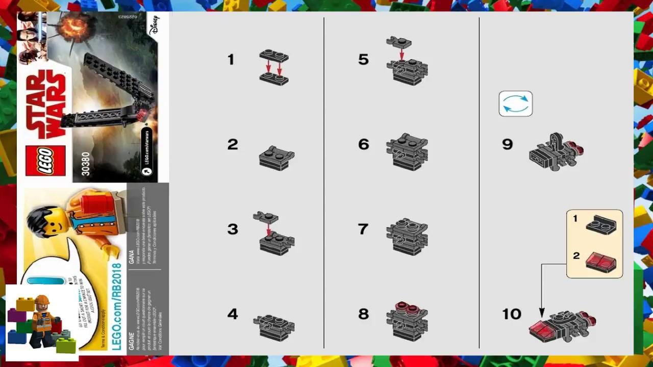 Lego Instructions  Star Wars 30380  Kylo Ren's Shuttle inside Lego 75213 Instructions