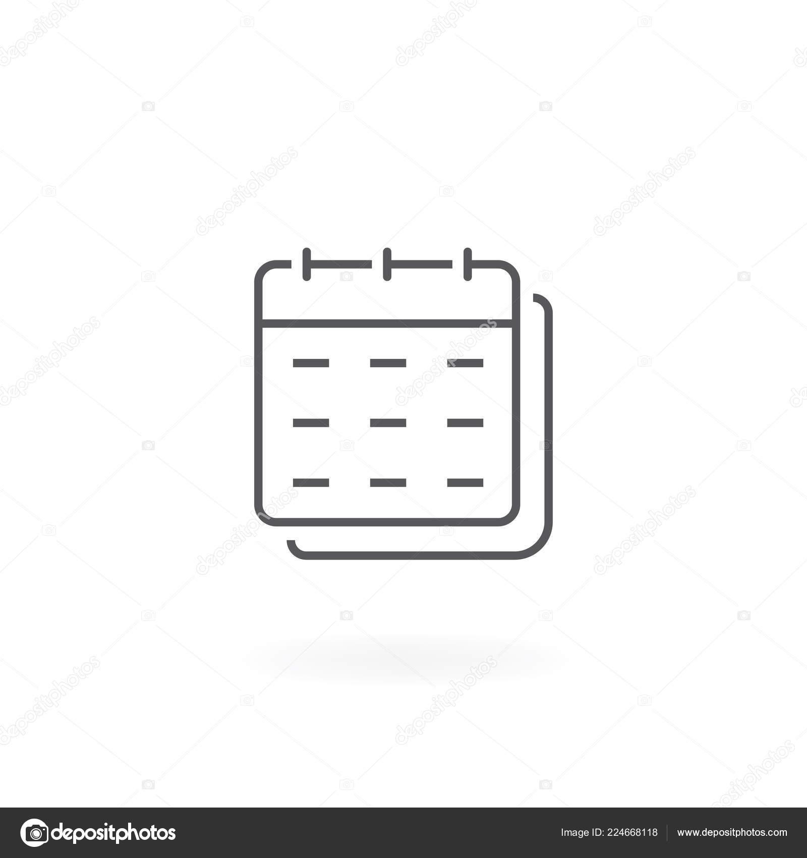Line Calendar Icon Calendar Line Vector Icon White with Calendar Icon White
