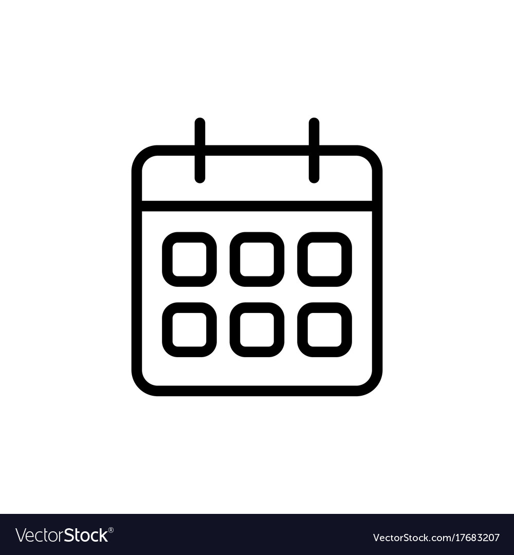 Line Calendar Icon On White Background with regard to Calendar Icon Jpg