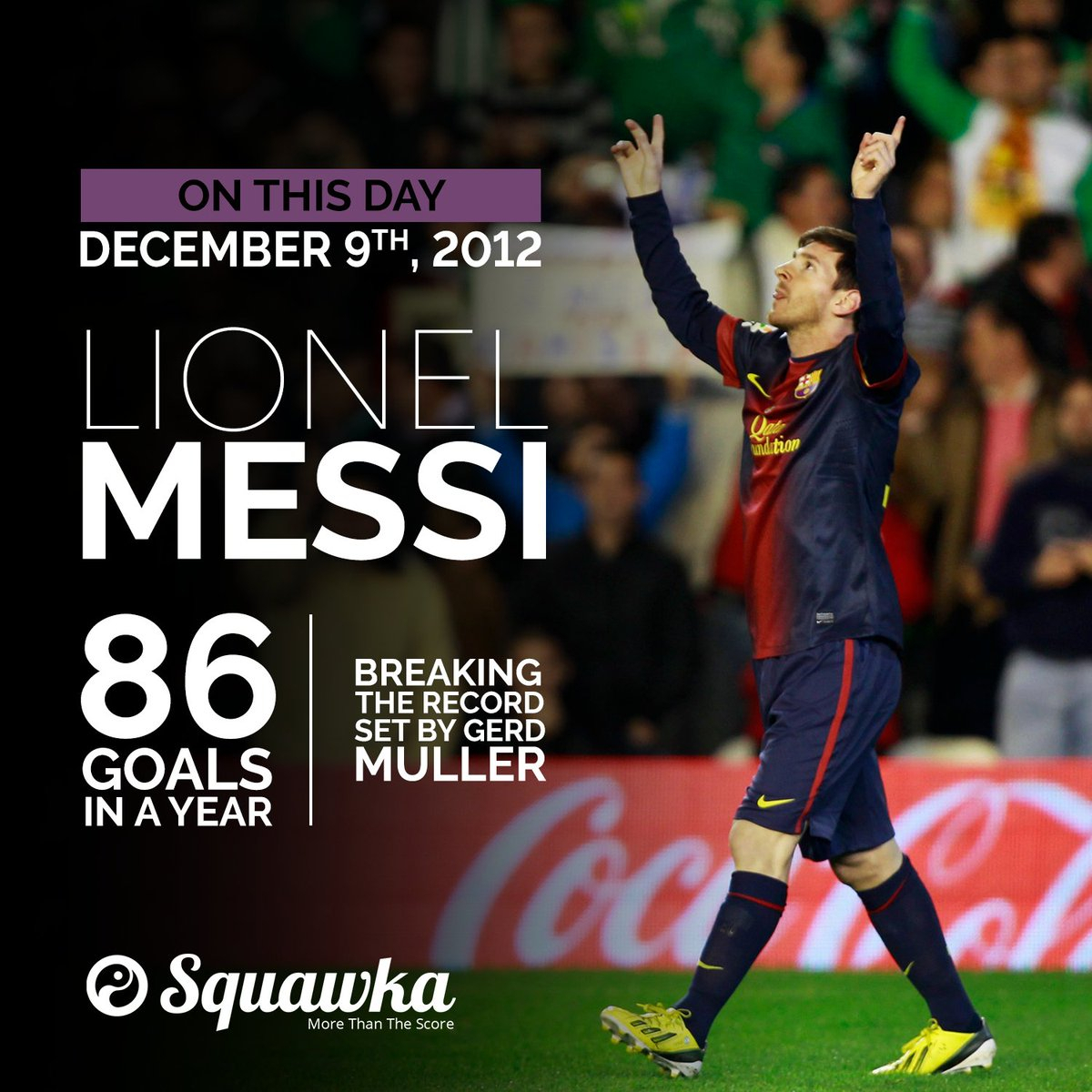 Lionel Messi Gerd : Day Lionel Messi Scored Goal Breaking for Messi Calendar Year Goals