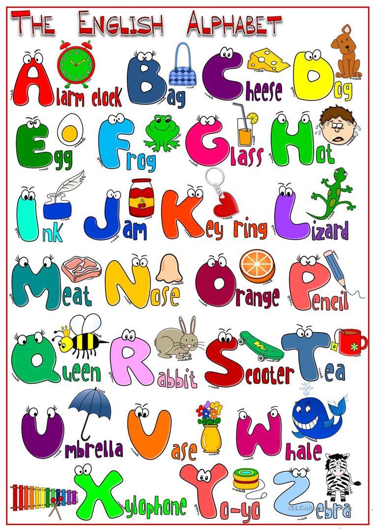 Lively Alphabet Poster Printable | Burns's Website pertaining to Arabic Alphabet Poster Printable