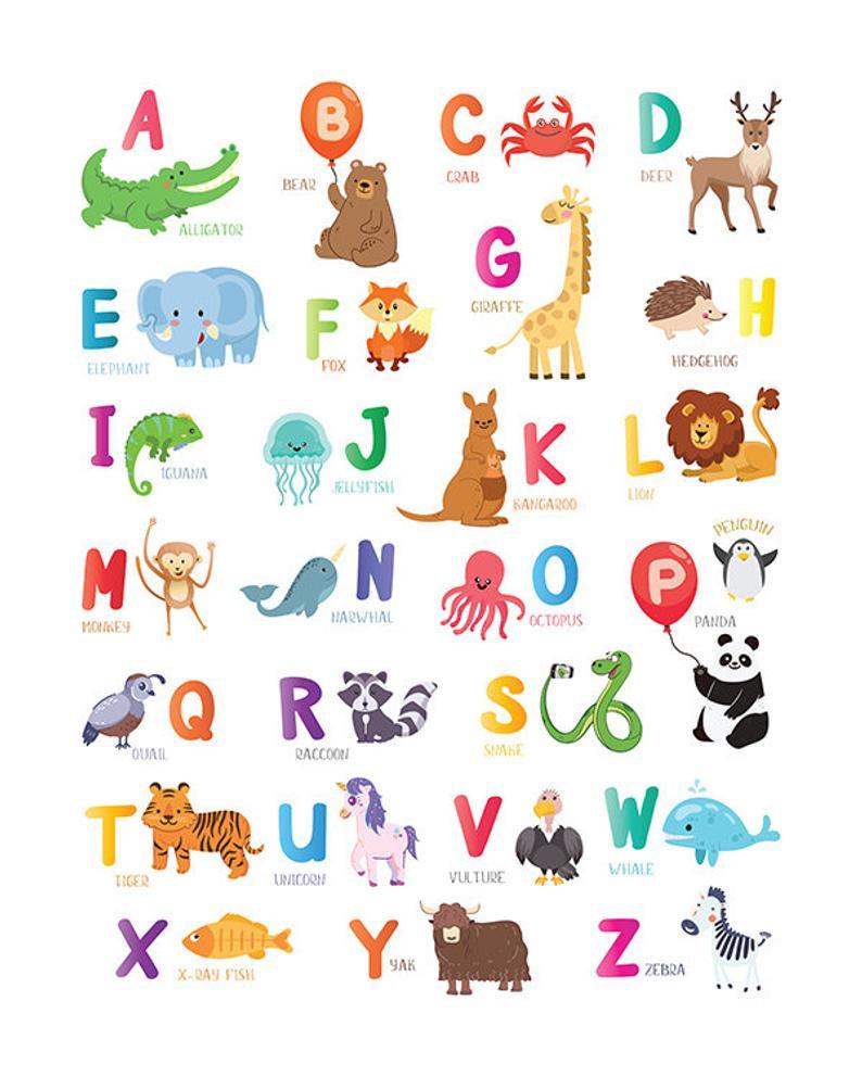Lively Alphabet Poster Printable | Jackson Website with Arabic Alphabet Poster Printable