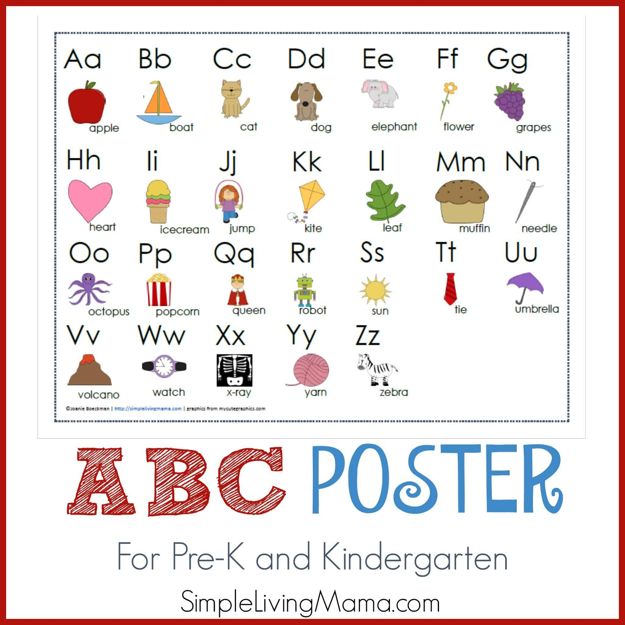Lively Alphabet Poster Printable | Jackson Website with regard to Arabic Alphabet Poster Printable