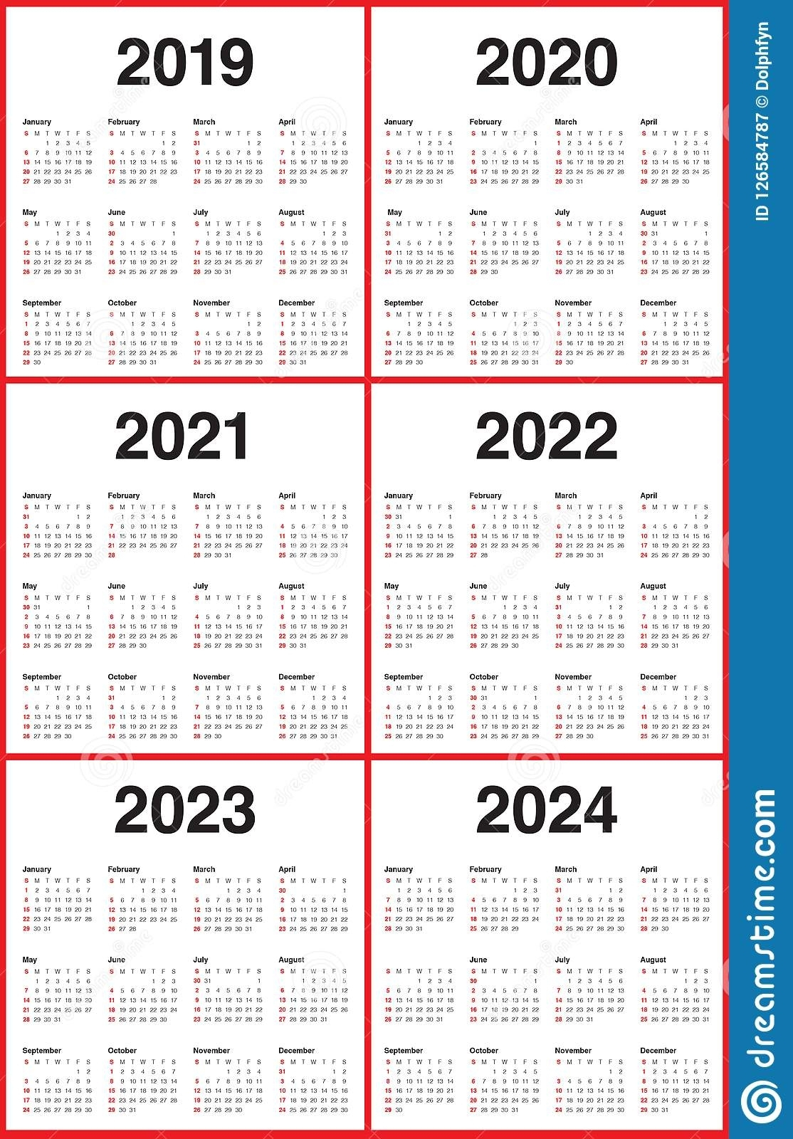 Lovely 3 Year Calendar 2022 To 2024 : Mini Calendar Template throughout 3 Year Calendar Printable