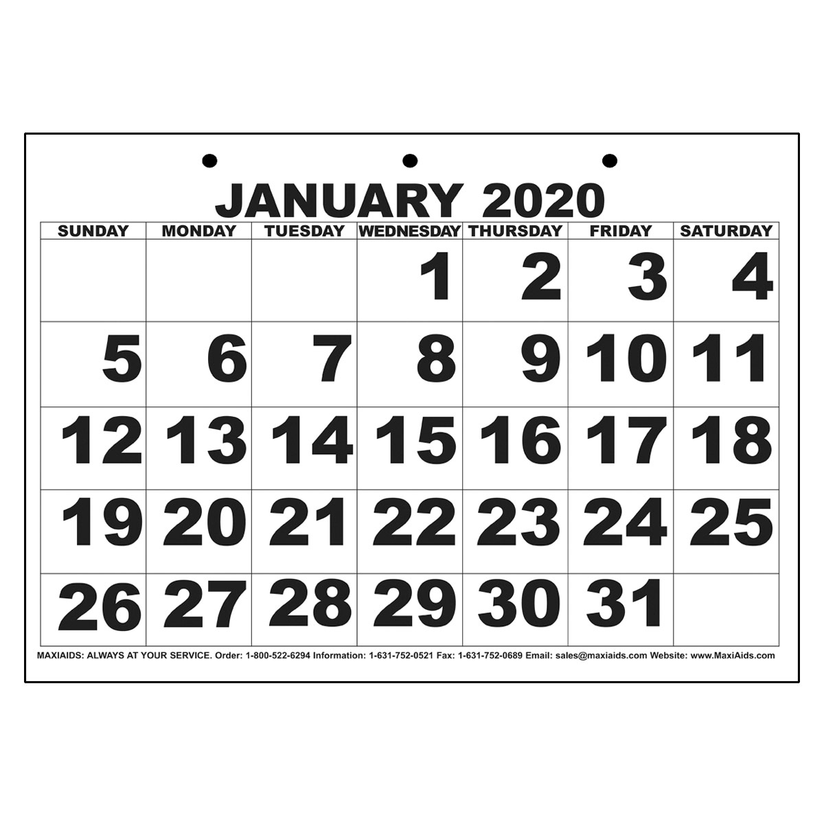Low Vision Print Calendar  2020 with regard to Keyboard Calendar Strips 2020
