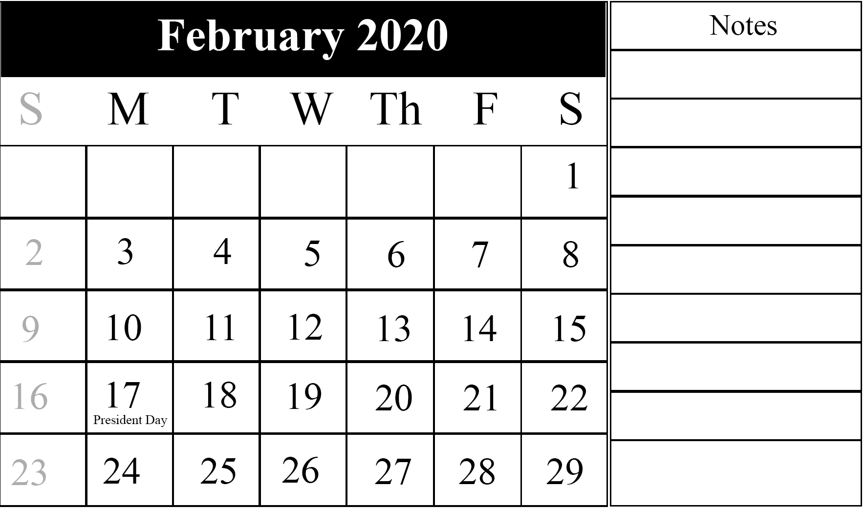 Lunar Calendar For February 2020 Fillable Printable With within Fillable Printable Calendar