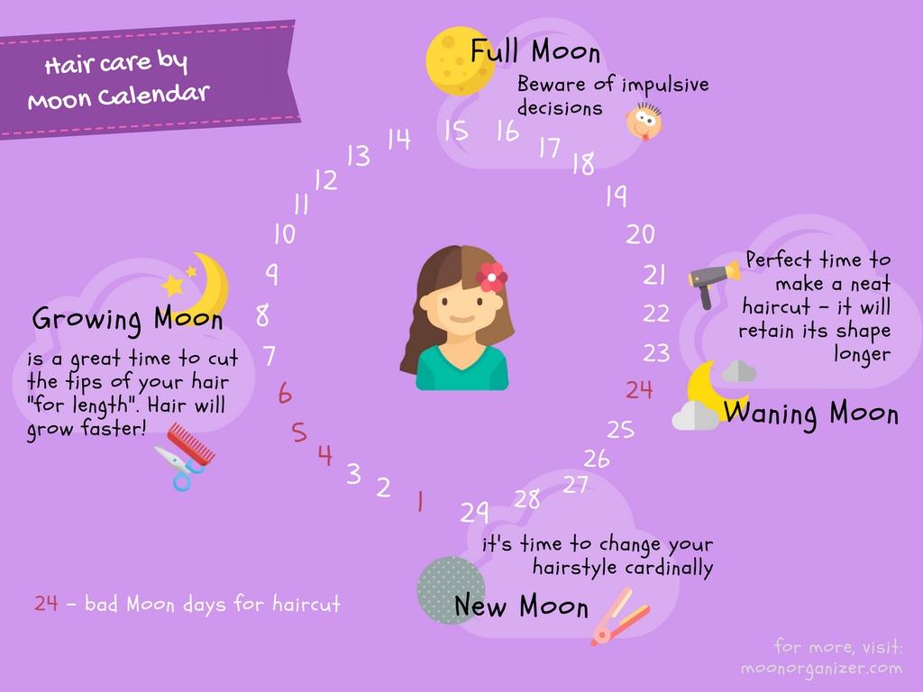 Lunar Hair Chart January 2018  Bobi.karikaturize with regard to Lunar Hair Chart