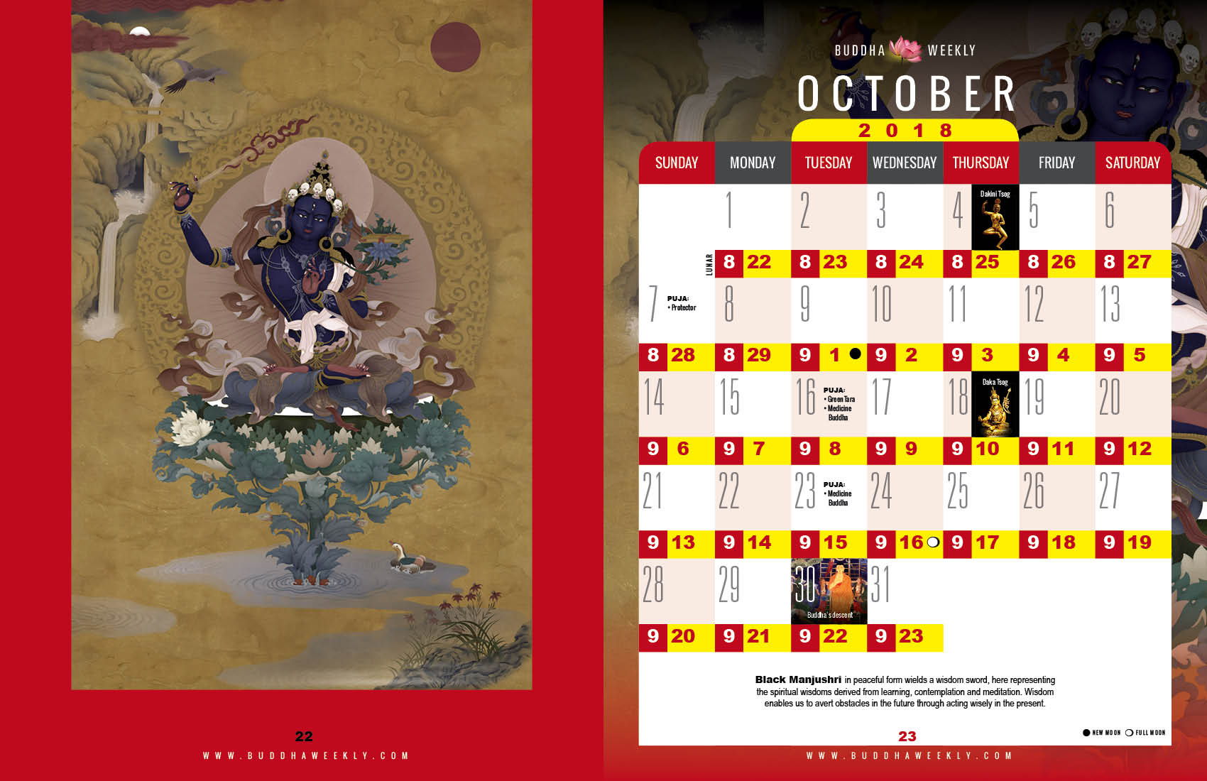 Lunarcalendar20181310  Buddha Weekly: Buddhist with regard to Om Lunar Calendar