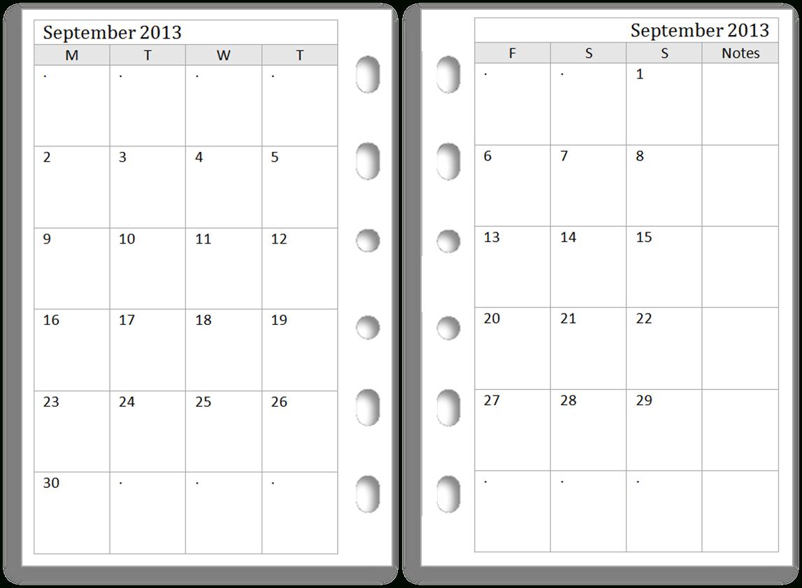 Luscious Printable Pocket Calendars | William Blog for Free Printable Pocket Calendar