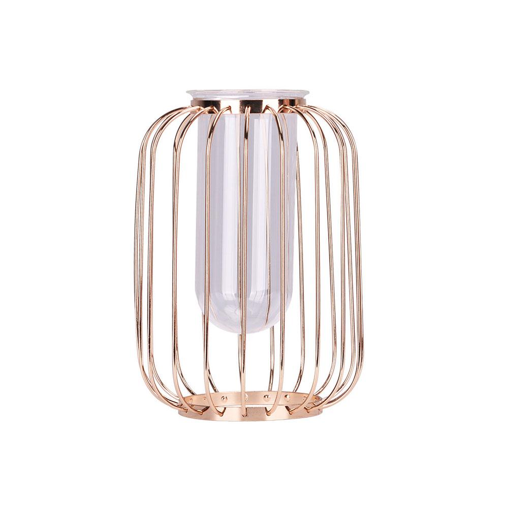 Luxury Nordic Style Vase With Wrought Iron Art, Lanternshaped Holder With  Glass Tube Inside within Wrought Iron Calendar Holder