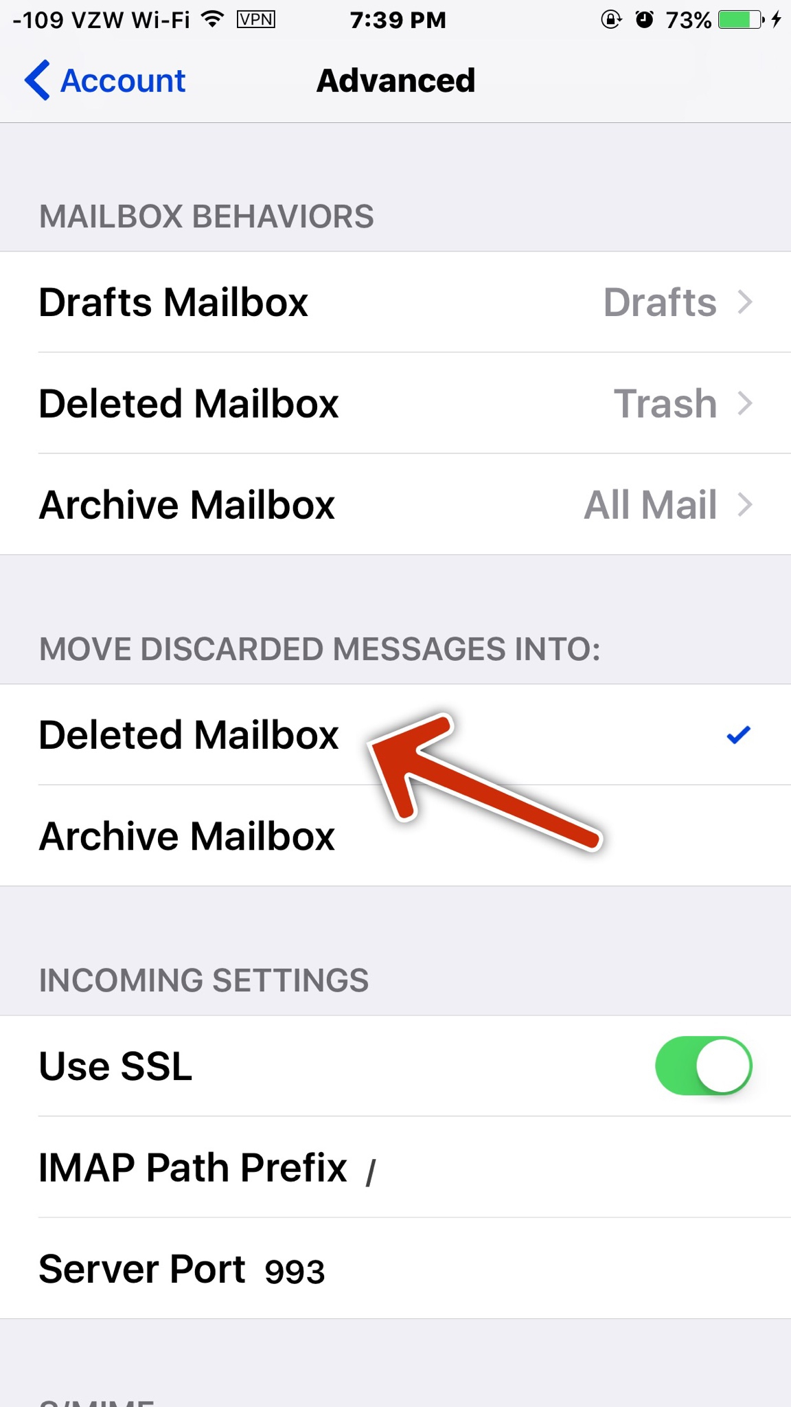 Mail Loses Trash Optionsometimes.  Iphone, Ipad, Ipod in Mail Icon Missing Iphone