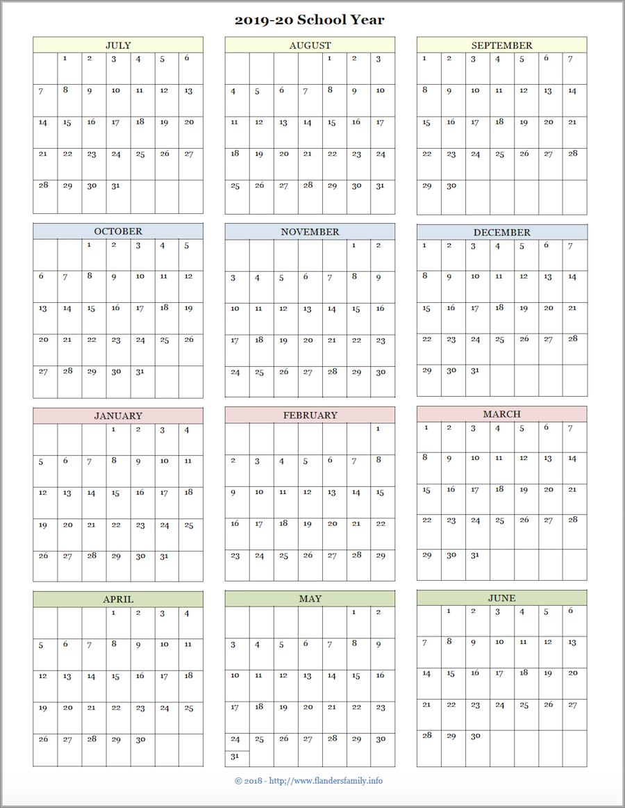 Mailbag Monday: More Academic Calendars (20192020 with Year At A Glance Calendar Printable