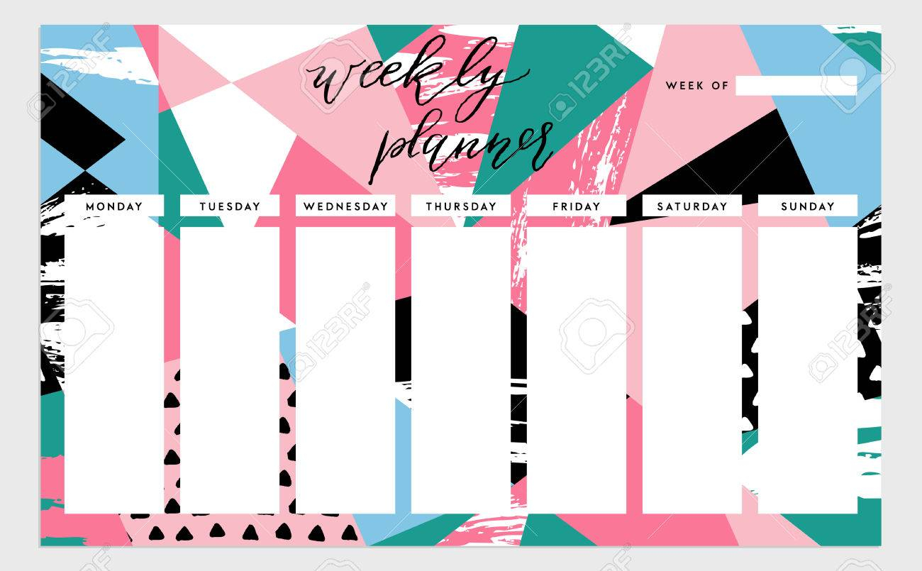 Maison Décoration 2018 » Timetables Templates Create For within Sunday Through Saturday Schedule Template