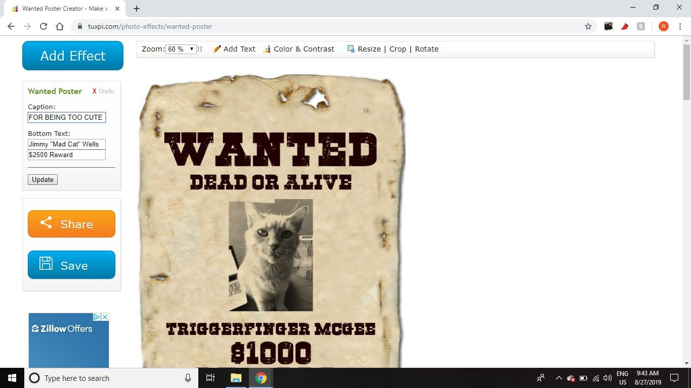 Make A Wanted Poster With Free Fonts And Tutorials in Make Your Own Wanted Sign