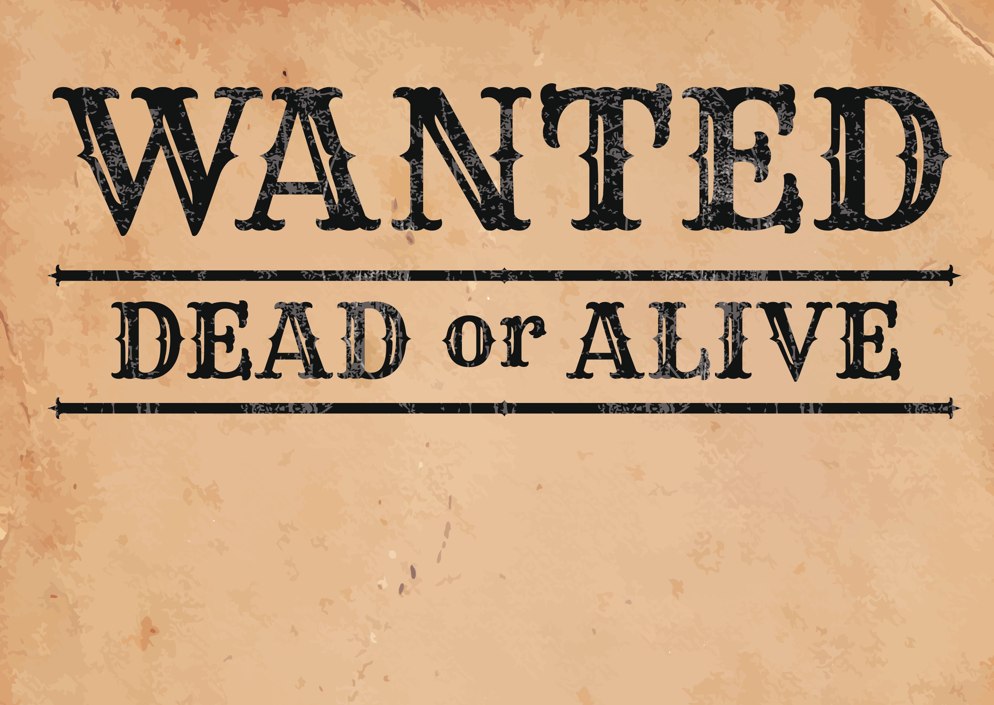 Make A Wanted Poster With Free Fonts And Tutorials inside Make Your Own Wanted Sign